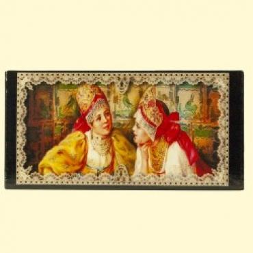 "Box ""Russian beauty"", a simple pattern on the edge, 17х8х3,5"