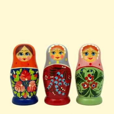 "Матрёшка ""Россияночка"" 4х кукольная 7-8 см"
